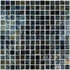 "Onix USA Geo Glass Square 4/5"" x 4/5""  Glass Mosaic in Black"
