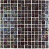 "Onix USA Geo Glass Square 4/5"" x 4/5"" Glass Mosaic in Brown"