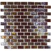 "Onix USA Geo Brick 1-3/5"" x 4/5"" Glass Frosted Mosaic in Brown"