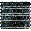 "Geo Glass Circle 11-1/2"" x 12-3/10""  Glass Mosaic in Black"