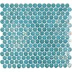 Onix USA Geo Glass Circle Glass Mosaic in Blue