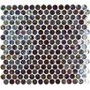 "Geo Glass Circle 12-3/10"" x 11-1/2"" Glass Mosaic in Brown"