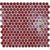 <strong>Onix USA</strong> Geo Glass Circle Glass Mosaic in Red