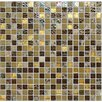 "Onix USA Crystone CS004 3/5"" x 3/5"" Stone and Glass Frosted Mosaic in Multicolor"