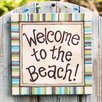Welcome To the Beach Canvas Art