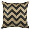 TheWatsonShop Chevron Burlap Pillow