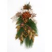Distinctive Designs Merry Christmas Pine Swag and Burlap Ribbon with Amber Elements