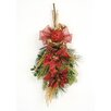 <strong>Distinctive Designs</strong> Holiday Sparkle Jeweled Poinsettia Swag