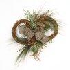 Distinctive Designs Chevron Ribbon Tied Pine Boughs Cedar and Copper Fern on Conjoined Nito Vine Wreaths