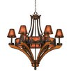 <strong>Kalco</strong> Aspen 6 Light Chandelier with Mica Shade