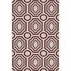 Angelo:Home Hudson Park Ivory/Burgundy Geometric Area Rug