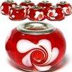 West Coast Jewelry Flowers Swirl Glass Bead (Set of 3)