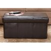 <strong>Home Loft Concept</strong> Malik Leather Storage Ottoman