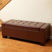 Home Loft Concept Jarius Leather Storage Ottoman