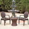 Home Loft Concept Giesel PE Wicker Outdoor Chat Set of 3