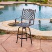<strong>Home Loft Concept</strong> Piedmont Cast Aluminum Copper Outdoor Bar Stool