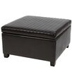 <strong>Home Loft Concept</strong> Jones Leather Storage Ottoman