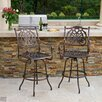 <strong>Parma Cast Aluminum Outdoor Bar Stool (Set of 2)Set of 2)</strong> by Home Loft Concept