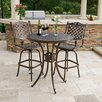<strong>Home Loft Concept</strong> Piedmont 3 Piece Cast Aluminum Copper Outdoor Bar Set