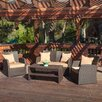 <strong>Home Loft Concept</strong> Driago Outdoor 4 Piece Wicker Seating Set