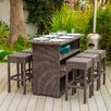 <strong>Home Loft Concept</strong> Redondo 7 Piece Outdoor Wicker Bar Set
