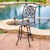 """Home Loft Concept Magua 29.5"""" Cast Aluminum Outdoor Copper Bar Stool"""