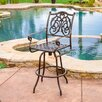 Home Loft Concept Magua Cast Aluminum Outdoor Copper Bar Stool