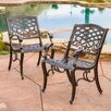 <strong>Home Loft Concept</strong> Griffen Cast Aluminum Outdoor Chair (Set of 2)