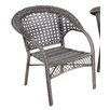 <strong>Home Loft Concept</strong> Saratoga Wicker Fan Back Outdoor Club Chair