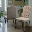 <strong>Belmont Tufted Fabric Weathered Hardwood Dining Chairs (Set of 2)</strong> by Home Loft Concept