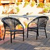 Home Loft Concept Ashworthe Wicker Fan Back Outdoor Club Chairs (Set of 2)