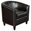 <strong>Home Loft Concept</strong> Alford Bonded Leather Quilted Barrel Chair