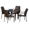 Home Loft Concept Ventura 5 Piece Outdoor Dining Set