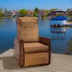 Home Loft Concept Penzance PE Wicker Outdoor Recliner