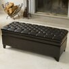 <strong>Home Loft Concept</strong> Isaako Tufted Leather Storage Ottoman