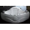 "61"" x 61"" Corner Waterfall Whirlpool Tub"
