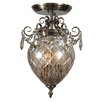 Crystorama Avery 2 Light Semi Flush Mount