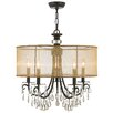 Crystorama Hampton 5 Light Drum Chandelier