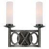 <strong>Odette 2 Light Wall Sconce</strong> by Crystorama