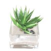 Creative Branch Faux Agave Desk Top Plant in Decorative Vase