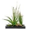 <strong>Creative Branch</strong> Faux Grass in Retangular Metal Planter