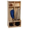 Wood Designs 2-Section Offset Locker