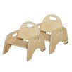 """Wood Designs Woodie 5"""" Plywood Classroom Stackable Tot Chair (Set of 2)"""