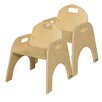 """Wood Designs Woodie 11"""" Plywood Classroom Stackable Tot Chair (Set of 2)"""