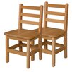 """Wood Designs 14"""" Wood Classroom Glides Chair (Set of 2)"""