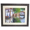 <strong>Alpine Art and Mirror</strong> Premier Gondona Bridge Framed Painting Print