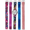 <strong>Vernier</strong> Women's Floral Watch with Interchangeable Straps