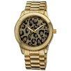 Vernier Women's Leopard Glitter Dial Watch