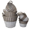 <strong>White x White</strong> Swedish 6 Piece Utility Basket Set
