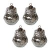 <strong>White x White</strong> Mercury Glass Owl Ornament Set (Set of 4)